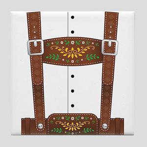 Lederhosen Oktoberfest Tile Coaster