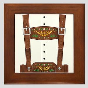 Lederhosen Oktoberfest Framed Tile
