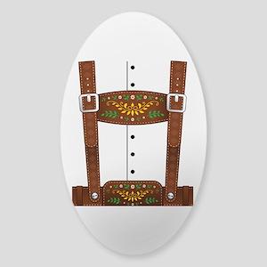 Lederhosen Oktoberfest Sticker (Oval)