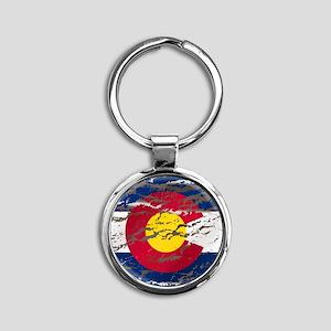 Colorado Vintage Flag Keychains