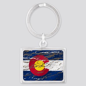 Colorado Vintage Flag Keychains