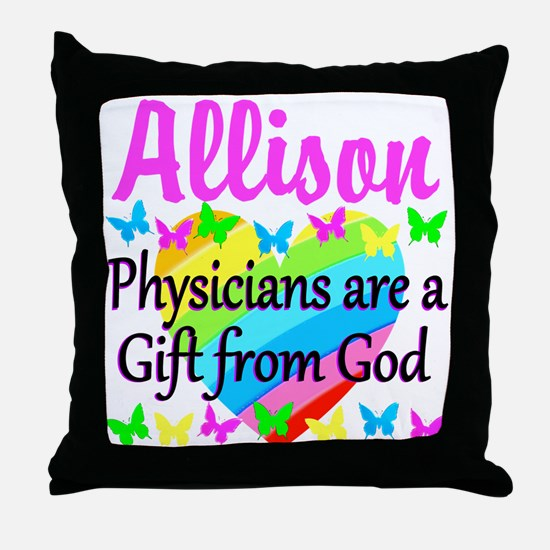 CHRISTIAN DOCTOR Throw Pillow