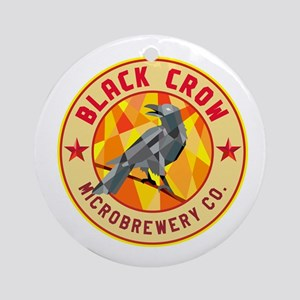 Crow Perched Microbrewery Circle Low Polygon Round