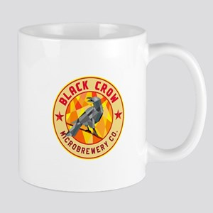 Crow Perched Microbrewery Circle Low Polygon Mugs