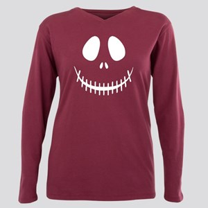 Halloween Skeleton Plus Size Long Sleeve Tee