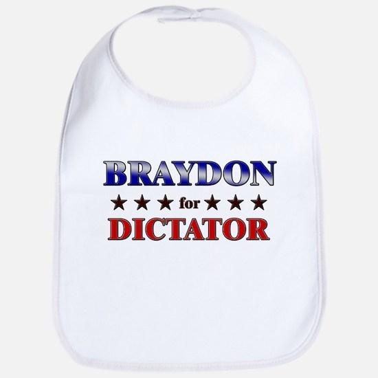 BRAYDON for dictator Bib