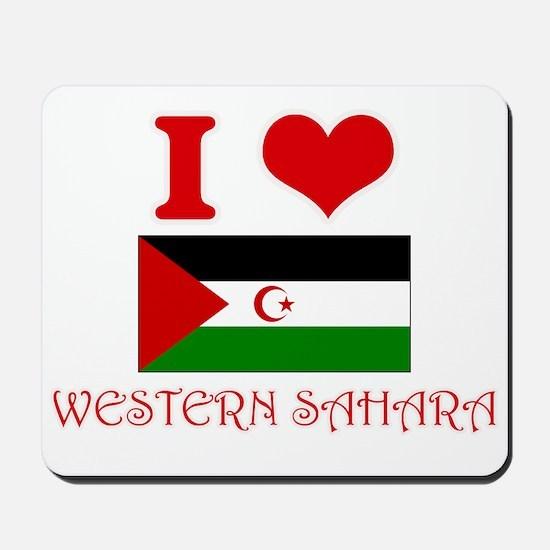 I Love Western Sahara Mousepad