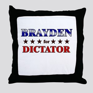 BRAYDEN for dictator Throw Pillow