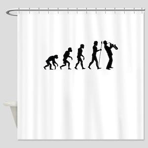 Saxophone Evolution Shower Curtain