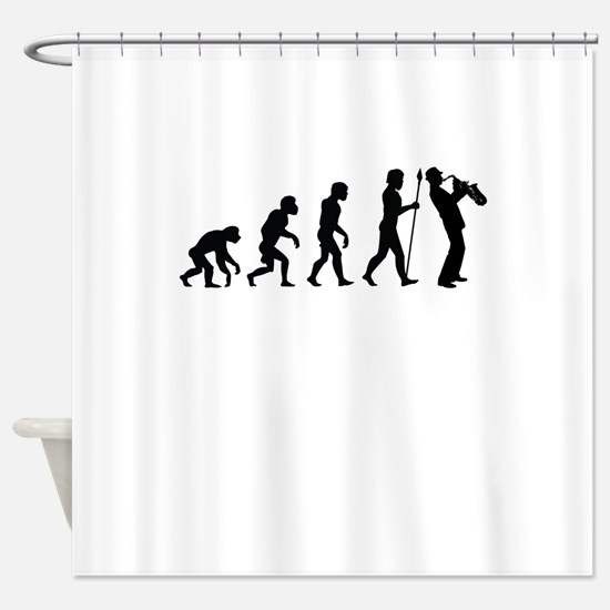 Saxophone Evolution Shower Curtain
