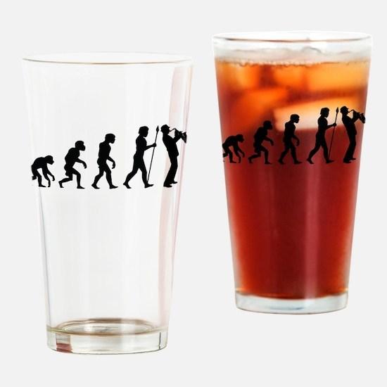 Saxophone Evolution Drinking Glass