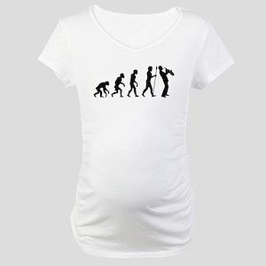 Saxophone Evolution Maternity T-Shirt