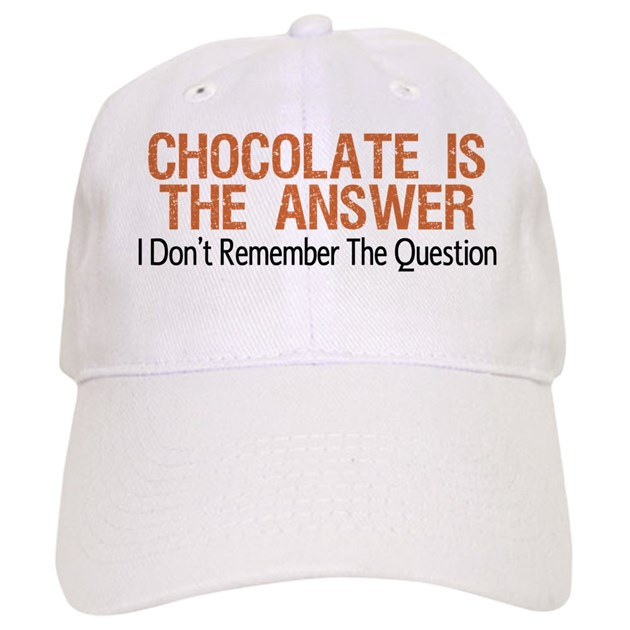 Chocolate Baseball Cap: Chocolate Is The Answer Baseball Baseball Cap By Runninggifts