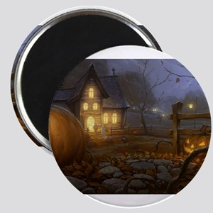 Haunted Halloween Village Magnets