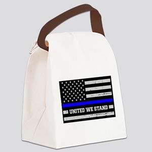 Thin Blue Line United Canvas Lunch Bag