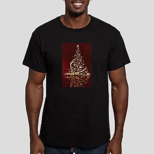 Christmas Tree Sparkling Glitter Holiday T-Shirt