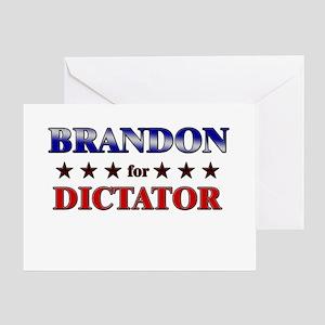 BRANDON for dictator Greeting Card