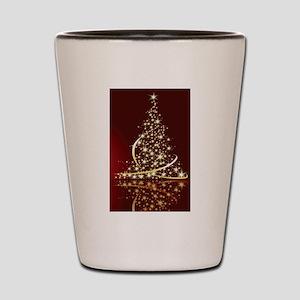 Christmas Tree Sparkling Glitter Holida Shot Glass