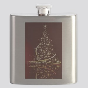 Christmas Tree Sparkling Glitter Holiday Flask