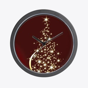 Christmas Tree Sparkling Glitter Holida Wall Clock