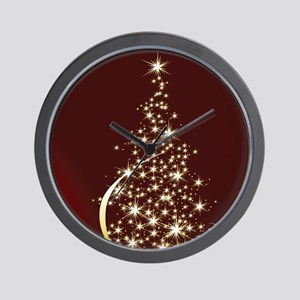 Christmas Tree Sparkling Glitter Holida Wall Clock