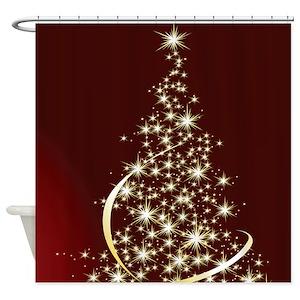 Elegant Christmas Shower Curtains