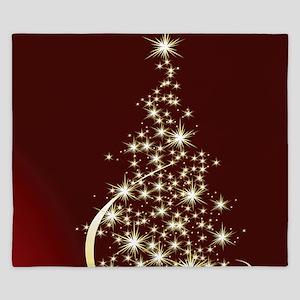 Christmas Tree Sparkling Glitter Holida King Duvet