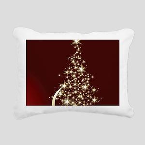 Christmas Tree Sparkling Rectangular Canvas Pillow