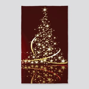 Christmas Tree Sparkling Glitter Holiday Area Rug