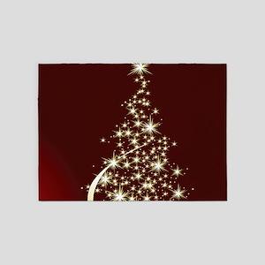 Christmas Tree Sparkling Glitter Ho 5'x7'Area Rug