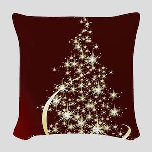 Christmas Tree Sparkling Glitt Woven Throw Pillow