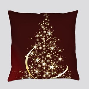 Christmas Tree Sparkling Glitter H Everyday Pillow