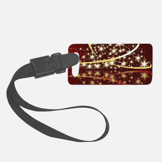 Christmas Tree Sparkling Glitter Luggage Tag