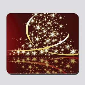 Christmas Tree Sparkling Glitter Holiday Mousepad