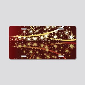 Christmas Tree Sparkling Gl Aluminum License Plate