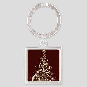 Christmas Tree Sparkling Glitter Holiday Keychains