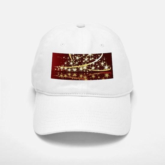 Christmas Tree Sparkling Glitter Holiday Baseball Baseball Cap