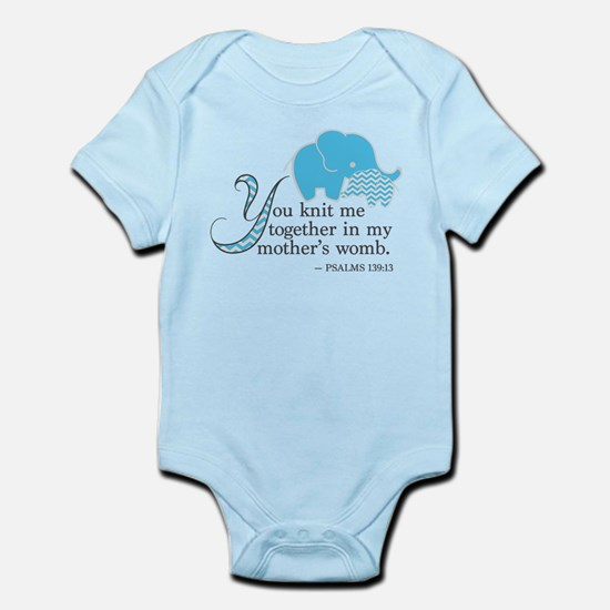 Blue Psalms 139:13 Body Suit