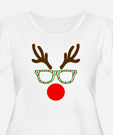 Hipster Reindeer Plus Size T-Shirt