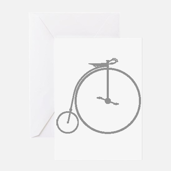 Penny Farthing Halftone Greeting Cards