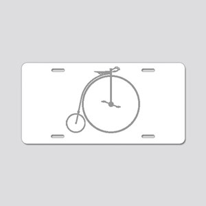 Penny Farthing Halftone Aluminum License Plate