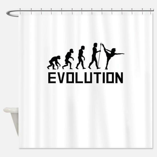 Figure Skating Evolution Shower Curtain