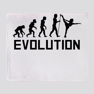 Figure Skating Evolution Throw Blanket