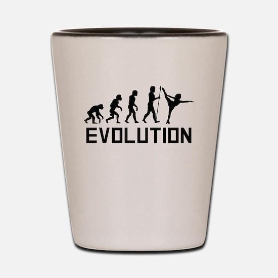 Figure Skating Evolution Shot Glass