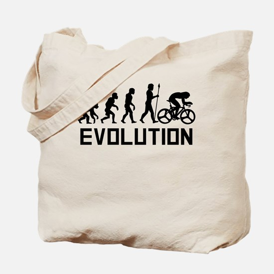 Biking Evolution Tote Bag