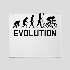 Biking Evolution Throw Blanket