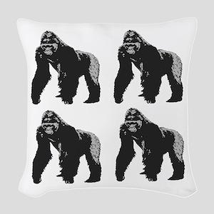 GORILLAS Woven Throw Pillow