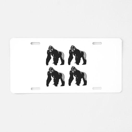 GORILLAS Aluminum License Plate