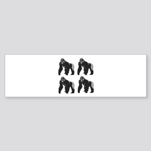 GORILLAS Bumper Sticker