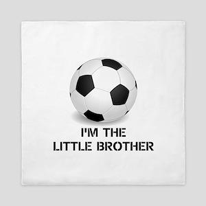 Im the little brother soccer ball Queen Duvet